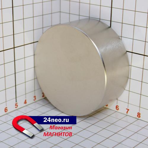 Неодимовый магнит диск 70х30 мм