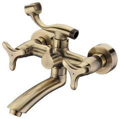 Смеситель для ванны и душа Kaiser (Кайзер) Trio 57122-1 Bronze двухвентильный, цвет - бронза