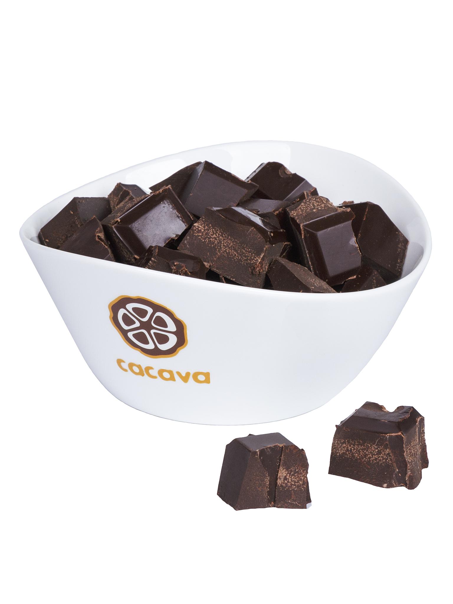 Какао тертое кусочками (Сан-Томе), внешний вид