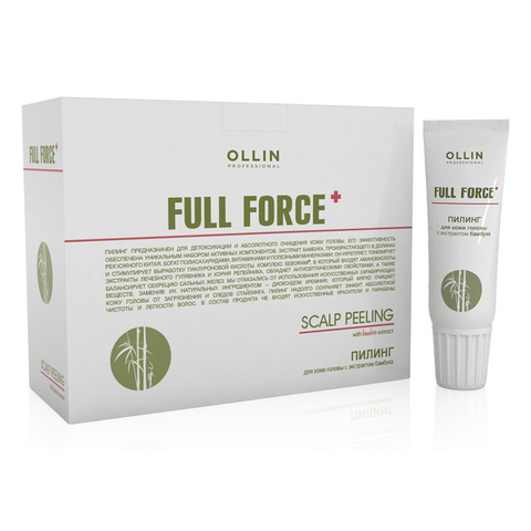 OLLIN PROFESSIONAL FULL FORCE Пилинг для кожи головы с экстрактом бамбука 10 шт по 15 мл
