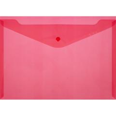Папка-конверт на кнопке А4 красная 0.18 мм (10 штук в упаковке)