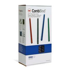 Пружины для переплета пластиковые GBC 19 мм черные (100 штук в упаковке)