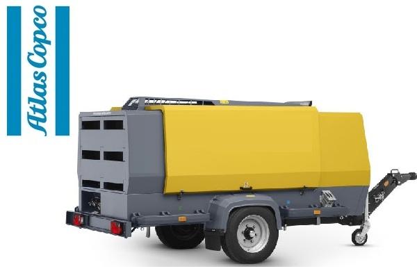 Компрессор дизельный Atlas Copco XAMS 407 на шасси с регулируемым дышлом