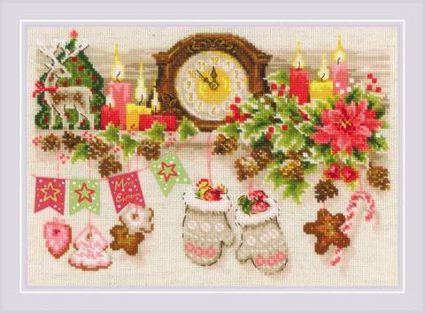 Набор для вышивания крестом «Рождественская полка» (1903)