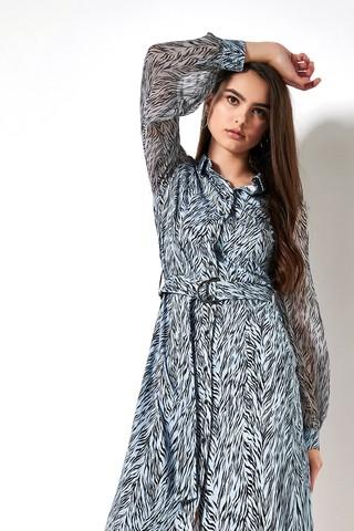 Desoto Платье трикотажное в стилизованный тигриный узор