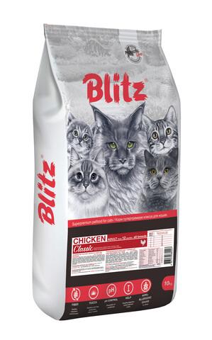 купить Blitz Adult Cats Chicken сухой корм для взрослых кошек с курицей 10 кг