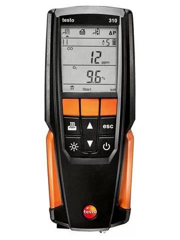 Анализатор дымовых газов testo 310 в комплекте с несъемным зондом отбора пробы L = 180 мм, Описание газоанализатора testo 310 (арт: 0563 3100)