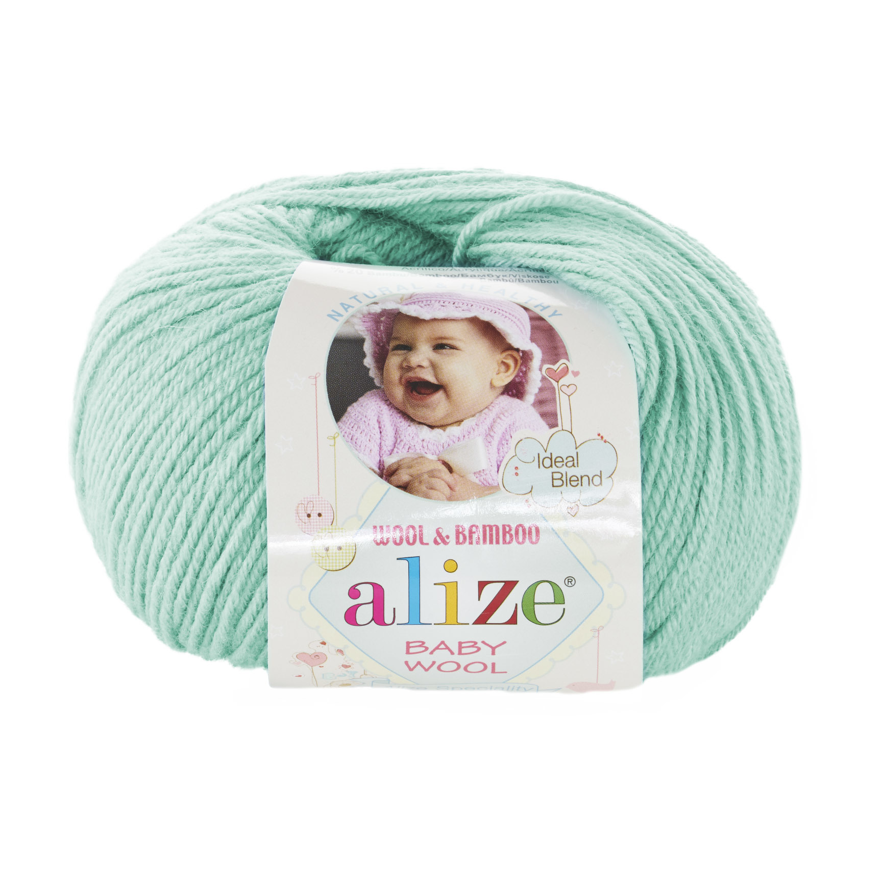 Пряжа Alize Baby Wool 19 мятный