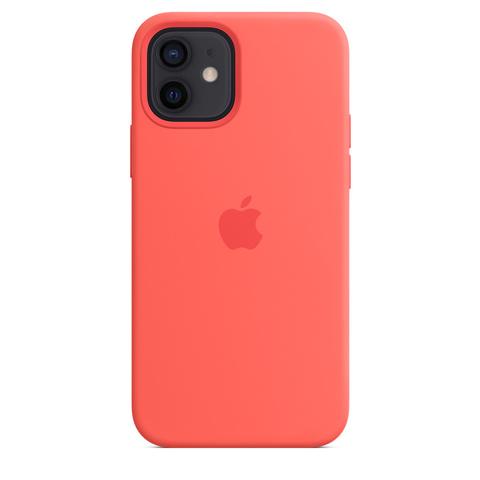 Apple Silicone Case на iPhone 12/12Pro (Розовый цитрус)