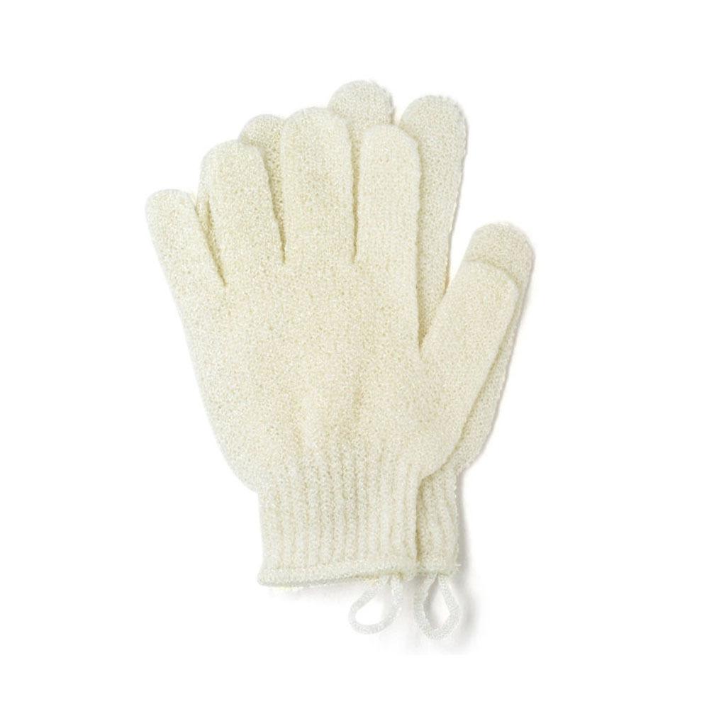 Перчатки для пилинга тела бежевые