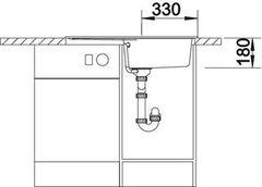 Мойка кухонная Blanco Rondoval 45S - вид спереди