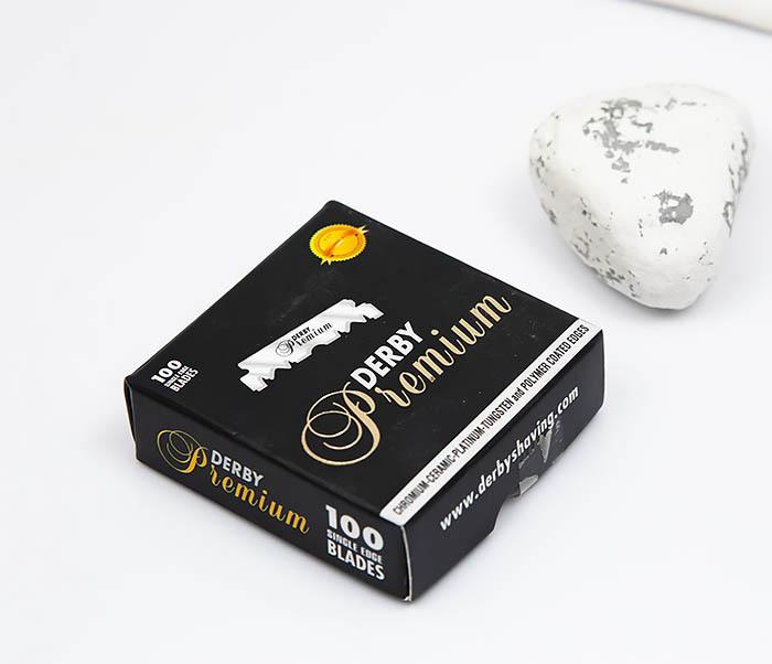 RAZ389 Упаковка профессиональных половинок лезвий Derby Premium (100 шт.) фото 03