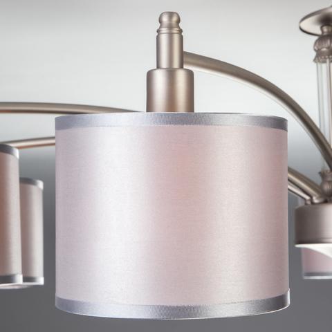 Классическая люстра с абажурами 60080/9 сатин-никель