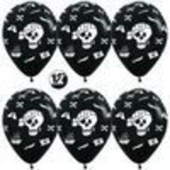 Шар 12''/30 см Пираты, Черный (080), пастель