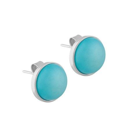 Пусеты Pearl Blue Sky Agate A1992.21 BL/S
