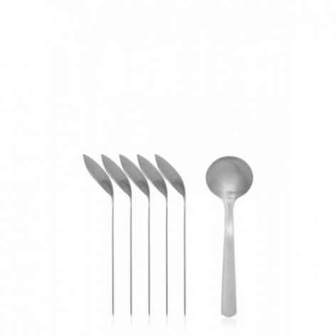 Набор ложек для соуса Brabantia (6шт.) - Matt Steel (матовая сталь), артикул 611346, производитель - Brabantia