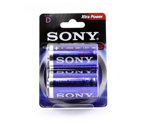 Батарейки Sony Stamina Plus LR20, D (2/24) BL