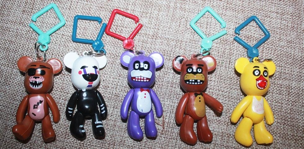 фигурки брелки в виде Popobe Bear лицами персонажей Фнаф