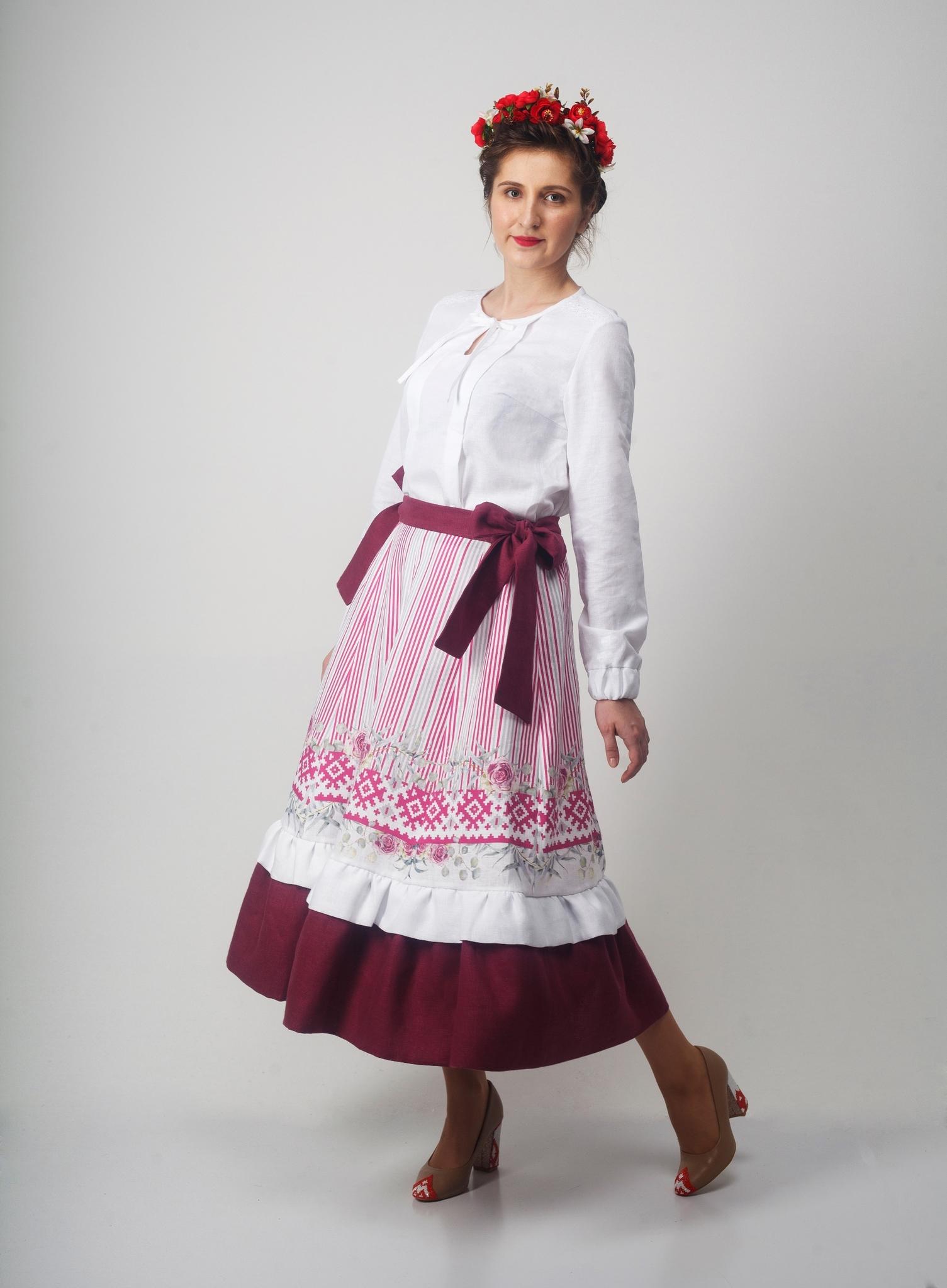 Юбка Хозяйка тайги 03 с блузкой белой