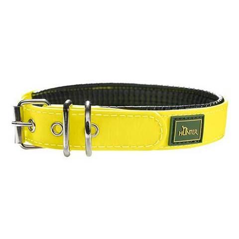 HUNTER Ошейник для собак водоотталкивающий неоновый Convenience Comfort 50 (37-45 см)/2,5 см