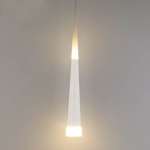 Подвесной светодиодный светильник DLR038 7+1W 4200K белый матовый