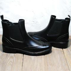 Резиновые ботинки для города женские W9072Black
