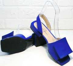 Удобные босоножки с открытым носком женские Amy Michelle 2634 Ultra Blue.