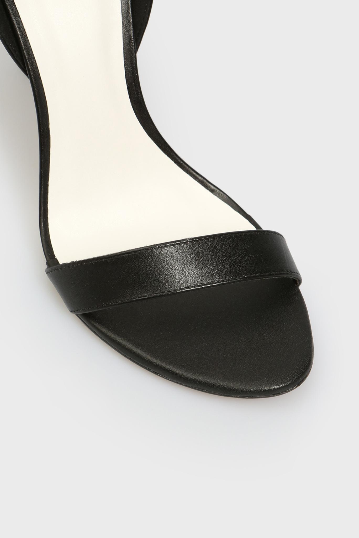 Женские черные кожаные босоножки Lawrence Preppy