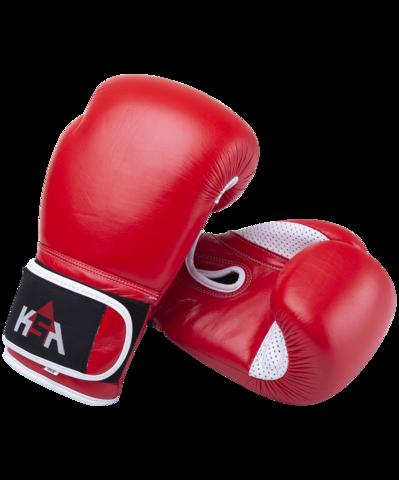 Перчатки боксерские Wolf кожа красные