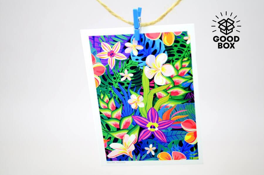 Подарочная открытка с цветами купить недорого