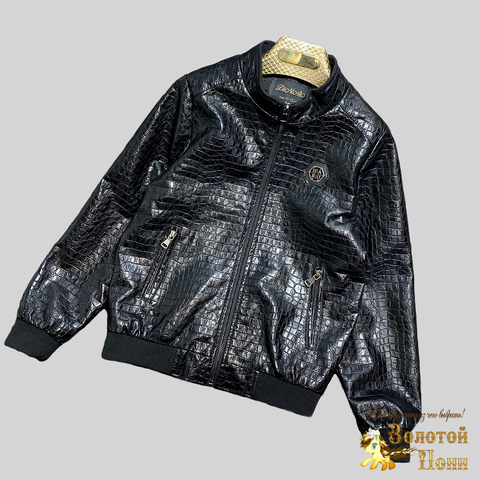 Куртка экокожа мальчику (8-15) 210328-К-74029
