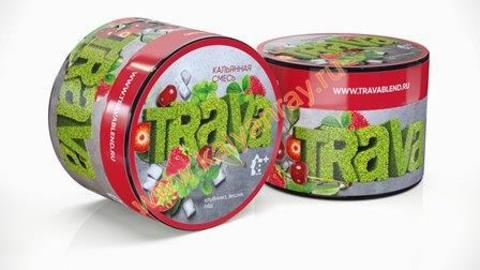 Кальянная смесь Trava - Клубника, Вишня, Лед