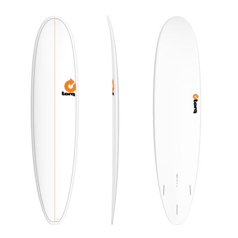 TORQ TET Long 8'0'' - White + Pinlines
