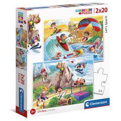 Puzzle PZL 2X20 LET'S SPORT!