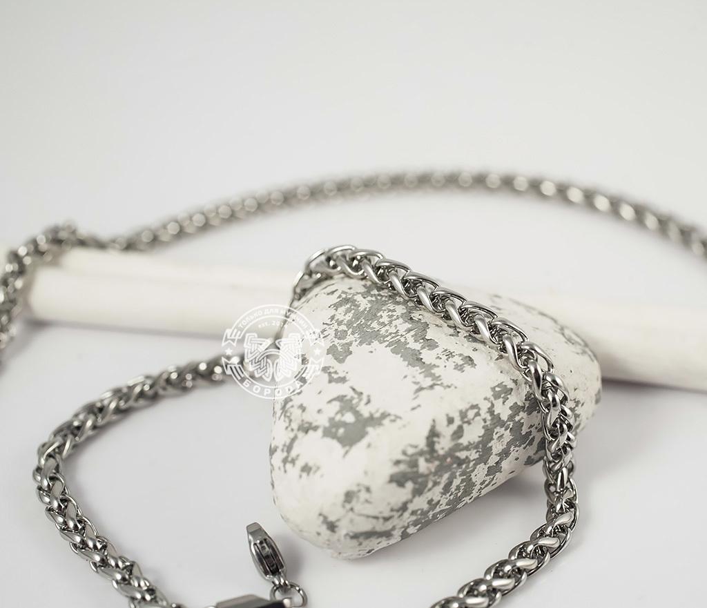 PM215-1 Красивая мужская цепочка из ювелирной стали интересного плетения (4 мм) фото 03