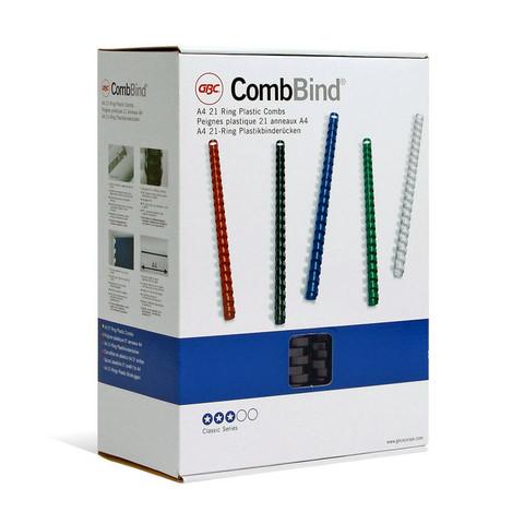 Пружины для переплета пластиковые GBC 25 мм черные (50 штук в упаковке)