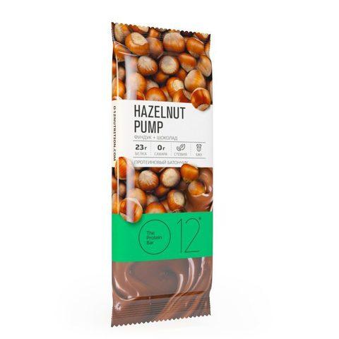 Вафельный батончик О12 с белковой начинкой с какао и фундуком в молочном шоколаде
