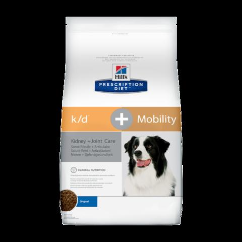 Hill's Prescription Diet K/D + Mobility Сухой диетический корм для собак при заболеваниях почек и суставов