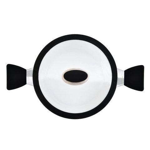 Кастрюля с крышкой 20см 3л Eclipse black and white