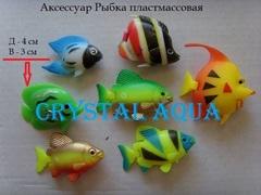 Рыбка пластмассовая, в ассортименте, без хвостов