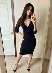 Валенсія. Ефектне молодіжне блискуче плаття. Чорний