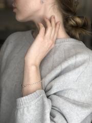 Браслет из японского белого стекляруса с бусинами  оптом и в розницу