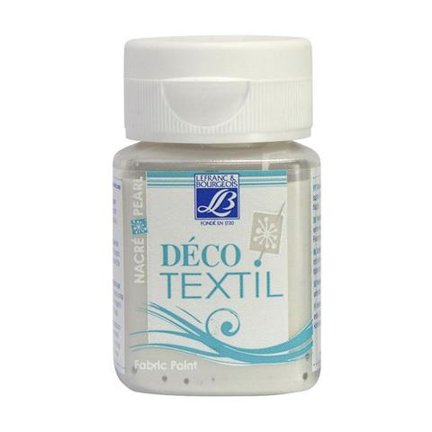Краска по ткани Lefranc&Bourgeois DECO TEXTIL 50 мл 738, перламутровый белый