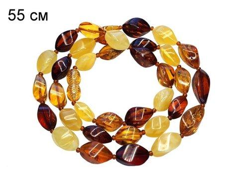 бусы камнерезные из калининградского янтаря