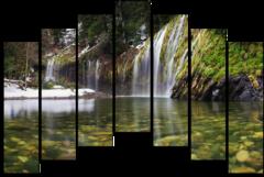 """Модульная картина """"Весенний водопад"""""""