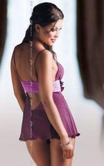 Прозрачная сорочка Fiore с поясом под грудью и трусиками-стринг