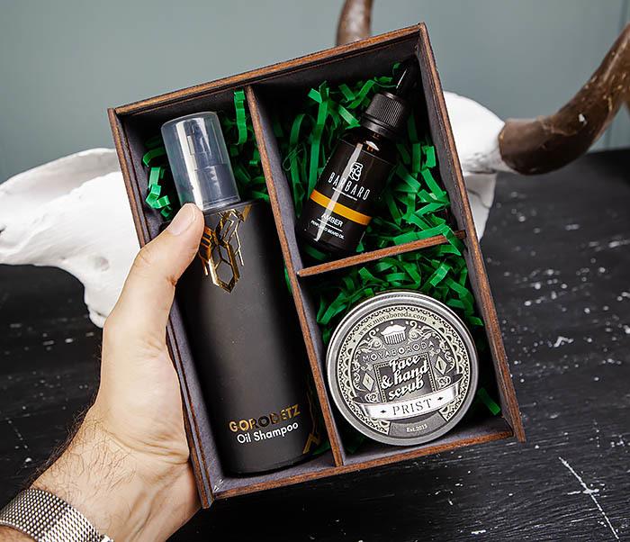 Набор средств для бородача: шампунь, масло для бороды и скраб для кожи фото 05