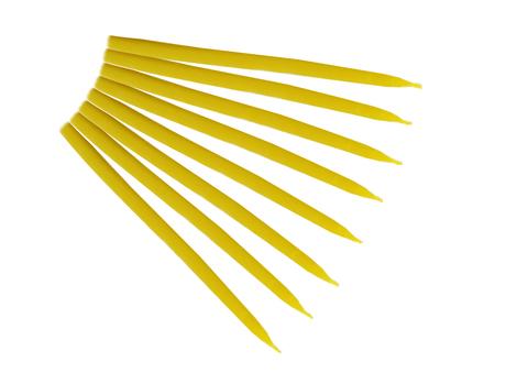 Свеча маканная желтая