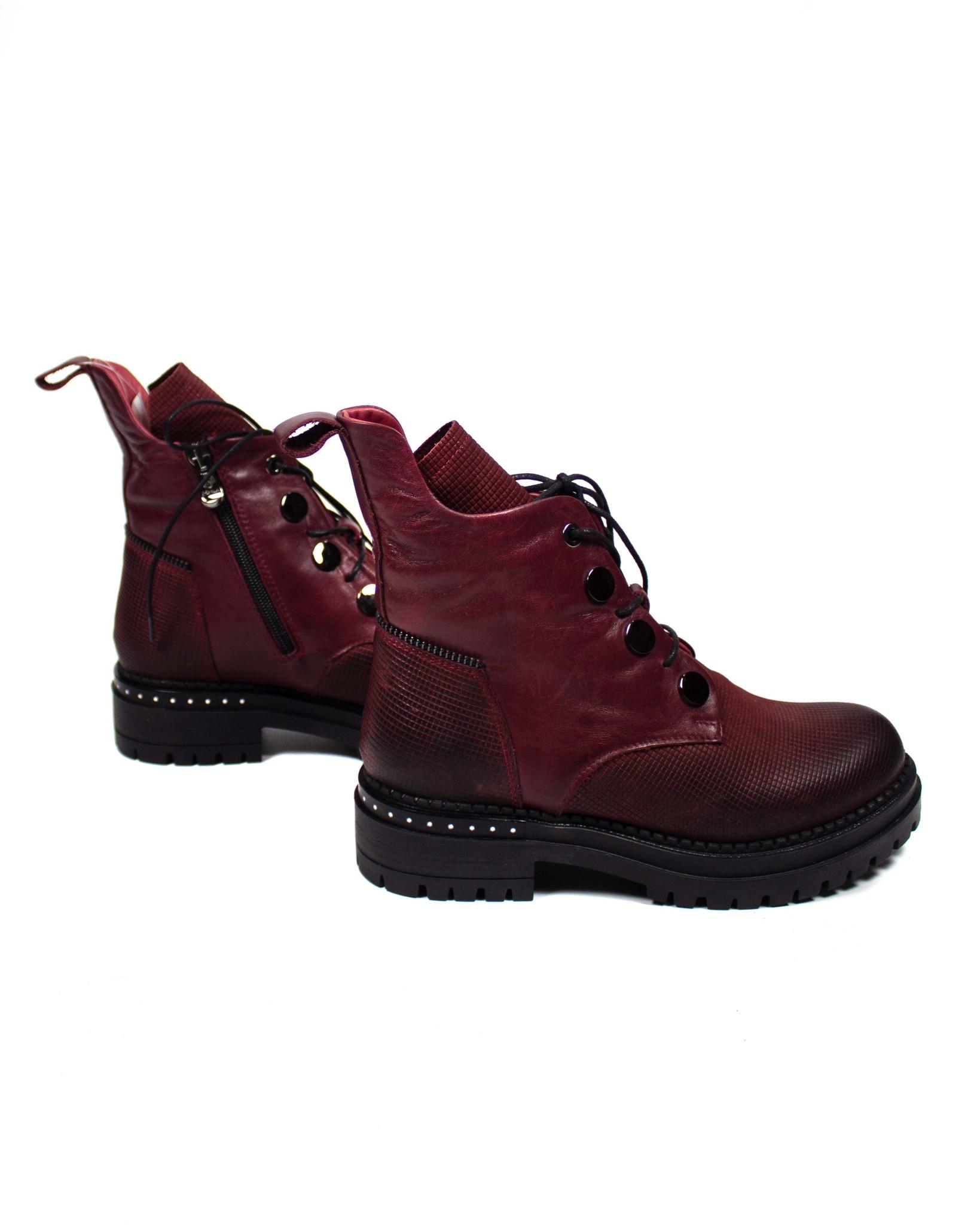 бордовые ботинки Donna Ricco