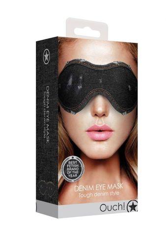 Черная джинсовая маска на глаза Roughend Denim Style